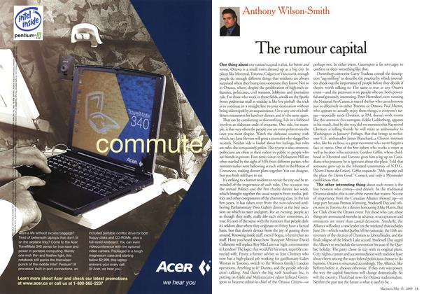 Article Preview: The rumour capital, May 2000 | Maclean's