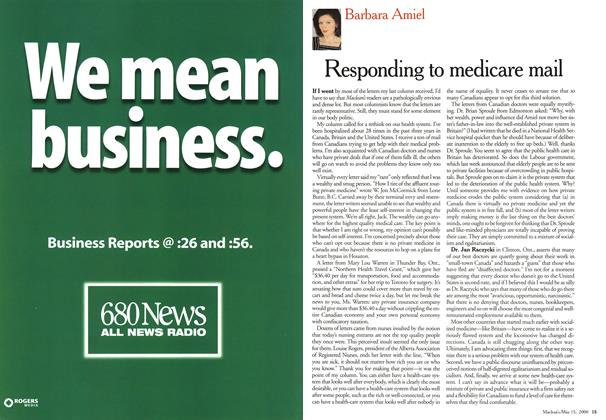 Article Preview: Responding to medicare mail, May 2000 | Maclean's