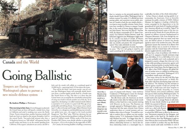 Article Preview: Going Ballistic, May 2000 | Maclean's