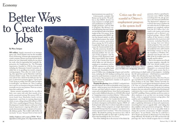 Article Preview: Better Ways to Create Jobs, May 2000 | Maclean's
