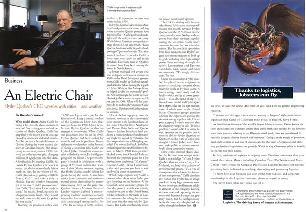 Article Preview: An Electric Chair, May 2000 | Maclean's