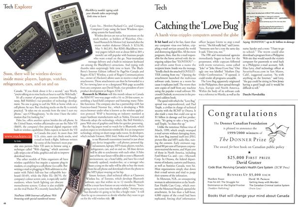 Article Preview: Catching the 'Love Bug', May 2000 | Maclean's
