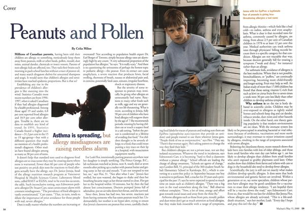 Article Preview: Peanuts and Pollen, May 2000   Maclean's