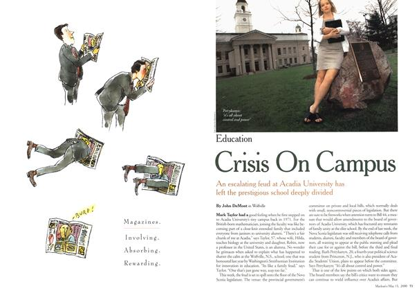 Article Preview: Crisis On Campus, May 2000 | Maclean's