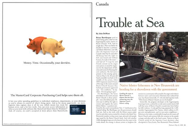 Article Preview: Trouble at Sea, May 2000 | Maclean's