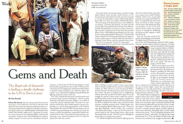 Article Preview: Gems and Death, May 2000   Maclean's