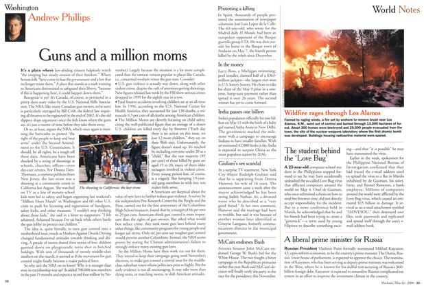 Article Preview: Guns and a million moms, May 2000 | Maclean's