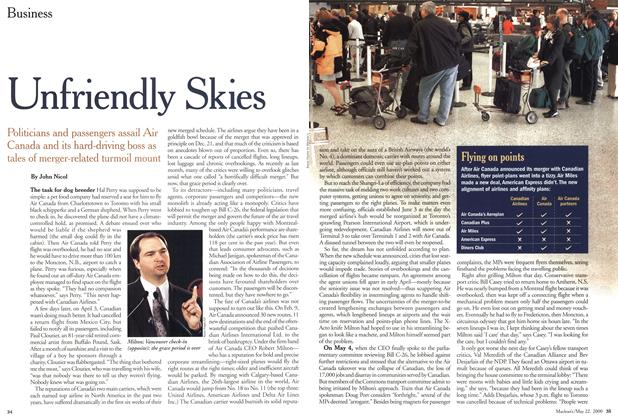Article Preview: Unfriendly Skies, May 2000 | Maclean's