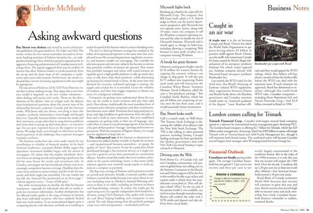 Article Preview: Business Notes, May 2000 | Maclean's