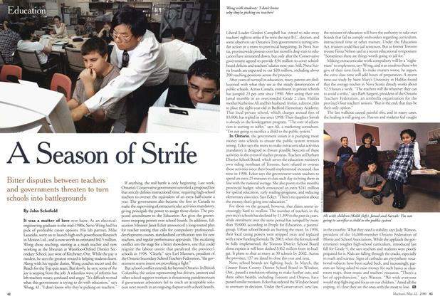 Article Preview: A Season of Strife, May 2000 | Maclean's
