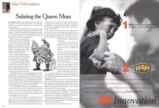 Article Preview: Saluting the Queen Mum, May 2000 | Maclean's