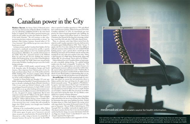 Article Preview: Canadian power in the City, May 2000 | Maclean's