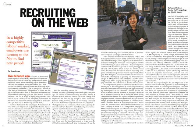 Article Preview: RECRUITING ON THE WEB, May 2000 | Maclean's