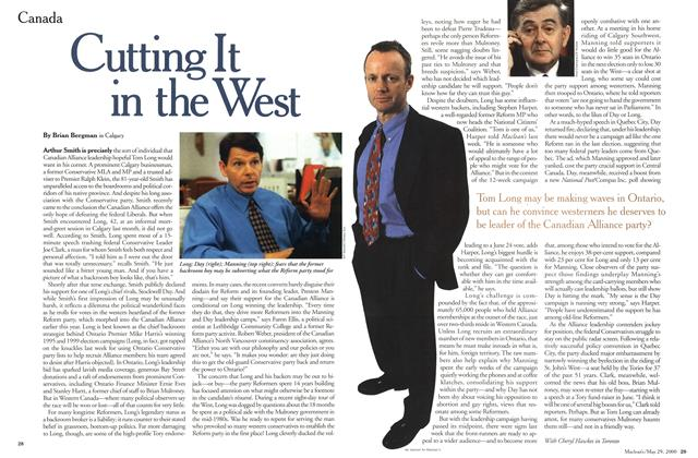 Article Preview: Cutting It in the West, May 2000 | Maclean's