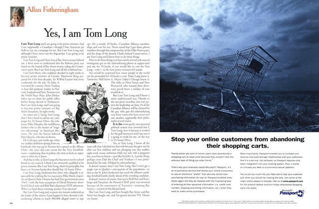 Article Preview: Yes, I am Tom Long, May 2000 | Maclean's