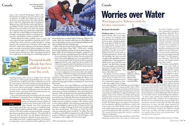 Article Preview: Worries over Water, June 2000 | Maclean's
