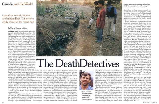 Article Preview: The Death Detectives, June 2000 | Maclean's