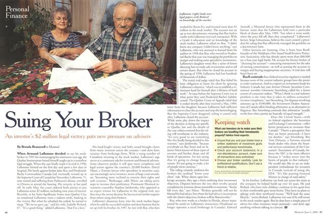 Article Preview: Suing Your Broker, June 2000 | Maclean's