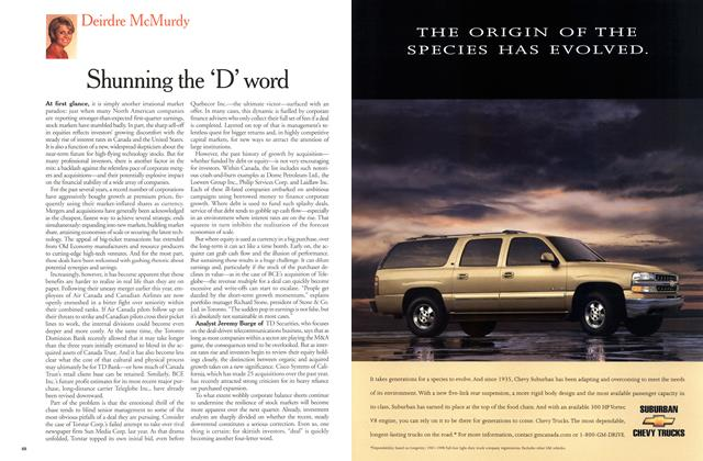 Article Preview: Shunning the 'D' word, June 2000 | Maclean's
