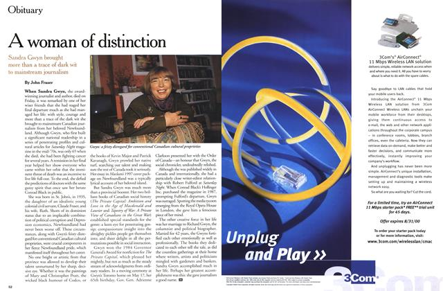 Article Preview: A woman of distinction, June 2000 | Maclean's