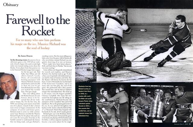Article Preview: Farewell to the Rocket, June 2000 | Maclean's