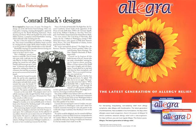 Article Preview: Conrad Black's designs, June 2000 | Maclean's