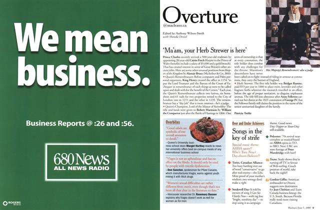 Article Preview: Overture, June 2000 | Maclean's