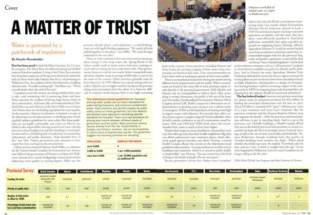 Article Preview: A MATTER OF TRUST, June 2000 | Maclean's