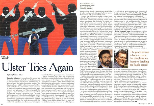 Article Preview: Ulster Tries Again, June 2000 | Maclean's