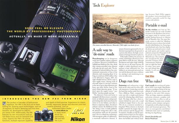 Article Preview: Tech Explorer, June 2000 | Maclean's