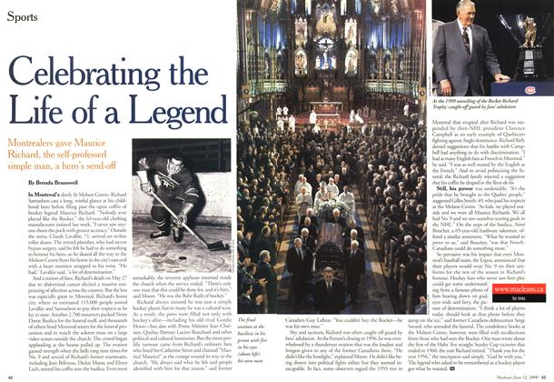 Article Preview: Celebration the Life of a Legend, June 2000   Maclean's