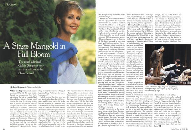 Article Preview: A Stage Marigold in Full Bloom, June 2000 | Maclean's