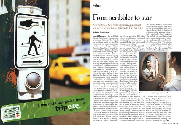 Article Preview: From scribbler to star, June 2000 | Maclean's