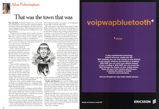 Article Preview: That was the town that was, June 2000   Maclean's
