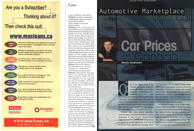 Article Preview: Car Prices In Canada, June 2000 | Maclean's