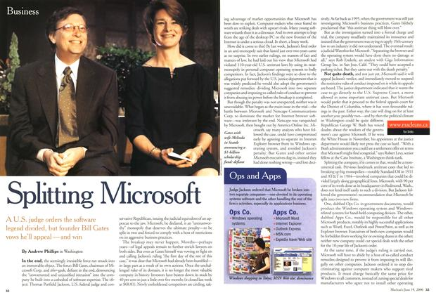 Article Preview: Splitting Microsoft, June 2000 | Maclean's