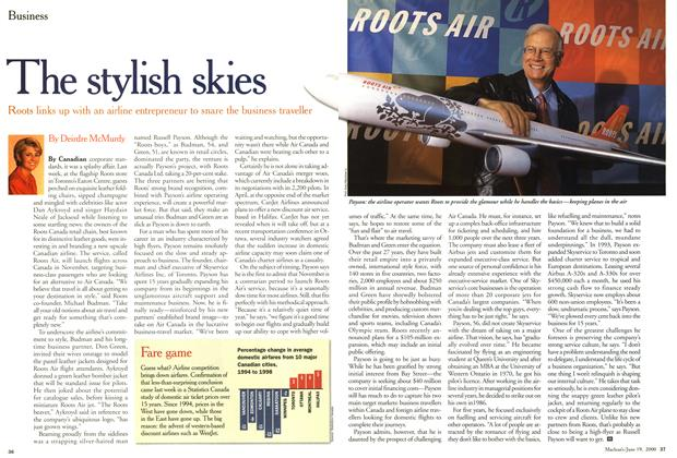 Article Preview: The stylish skies, June 2000 | Maclean's