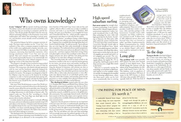 Article Preview: Who owns knowledge?, June 2000 | Maclean's