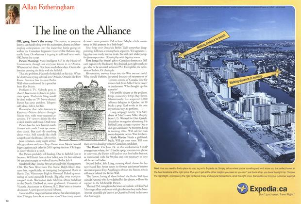 Article Preview: The line on the Alliance, June 2000 | Maclean's