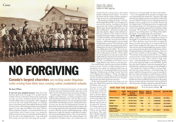 Article Preview: NO FORGIVING, June 2000 | Maclean's