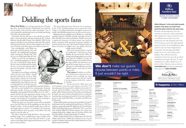 Article Preview: Diddling the sports fans, June 2000 | Maclean's
