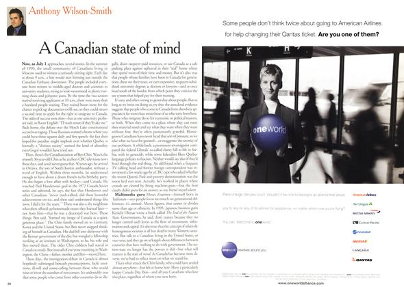 Article Preview: A Canadian state of mind, July 2000 | Maclean's