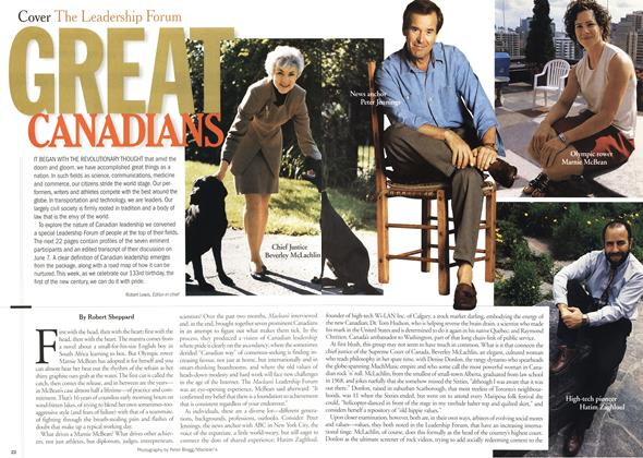 Article Preview: GREAT CANADIANS, July 2000 | Maclean's