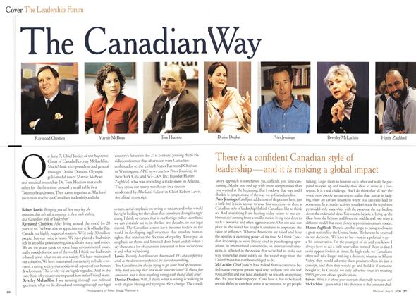 Article Preview: The Canadian Way, July 2000 | Maclean's