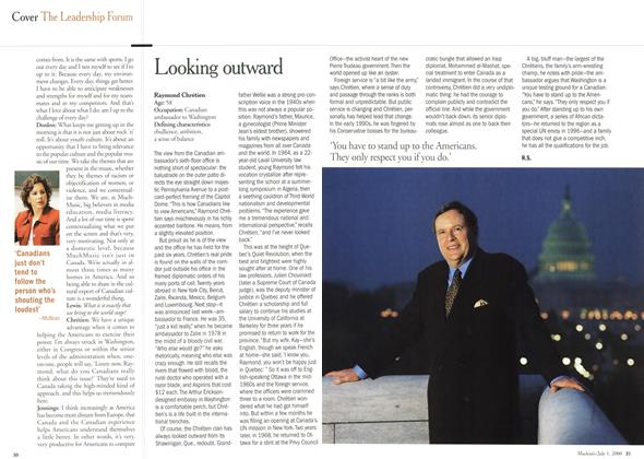 Article Preview: Looking outward, July 2000 | Maclean's