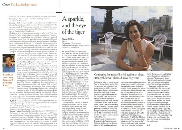 Article Preview: A sparkle, and the eye of the tiger, July 2000 | Maclean's