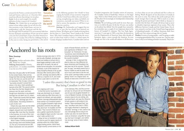 Article Preview: Anchored to his roots, July 2000 | Maclean's