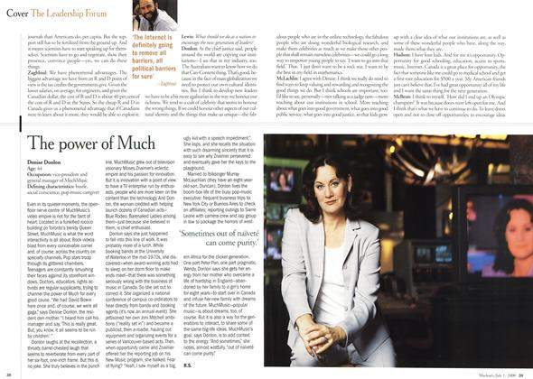 Article Preview: The power of Much, July 2000 | Maclean's
