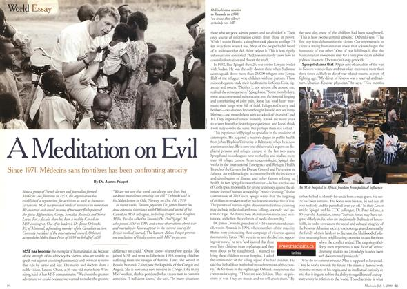 Article Preview: A Meditation on Evil, July 2000 | Maclean's
