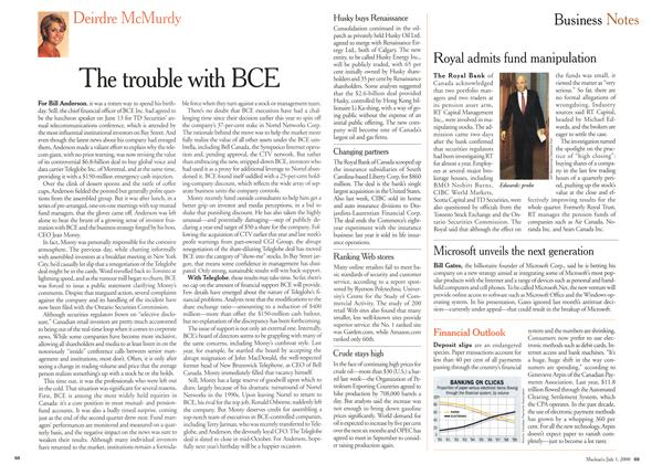 Article Preview: The trouble with BCE, July 2000 | Maclean's